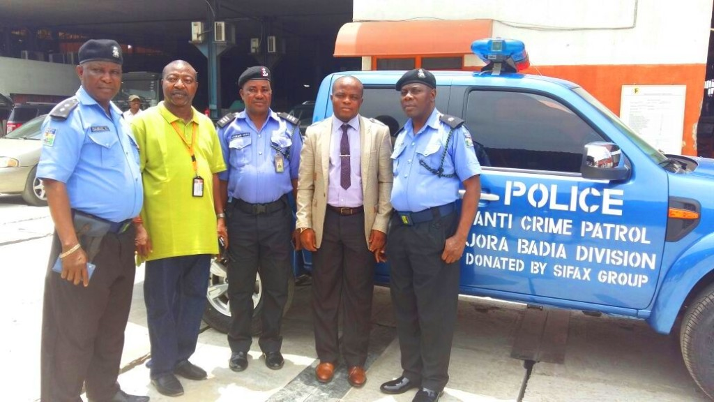 SIFAX Ijora Donates Hilux to Ijora-Badia Police